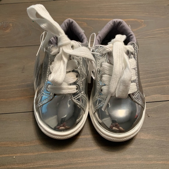 Cat & Jack Other - Cat & Jack Baby/Toddler Shoes Silver Sneakers